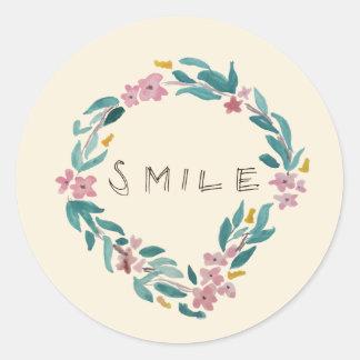 Smile Classic Round Sticker