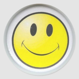 smile classic round sticker
