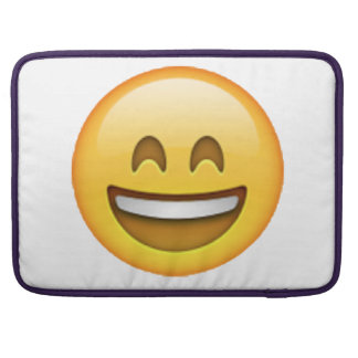 Smile Closed Eyes - Emoji Sleeve For MacBooks