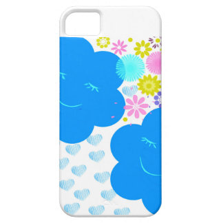 Smile,Clouds,hearts,flowers,blue,pink,yellow. Case For The iPhone 5