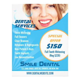 Smile Dentist Services with Special Offer Flyer