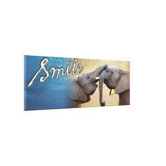 SMILE Elephant Wall Art