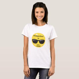 Smile Emoji with Sunshades Homeschool is Cool T-Shirt