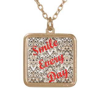 Smile Every Day Gold Plated Necklace