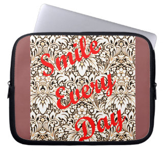 Smile Every Day Laptop Computer Sleeve