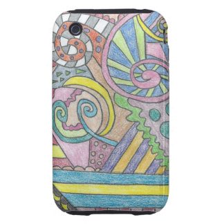 Smile Face Abstract  iPhone 3G/3GS Case Tough iPhone 3 Covers