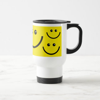Smile Face - Be Happy Travel Mug