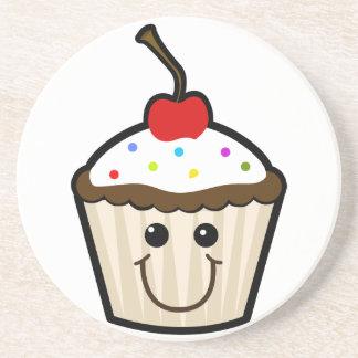 Smile Face Cupcake Beverage Coasters