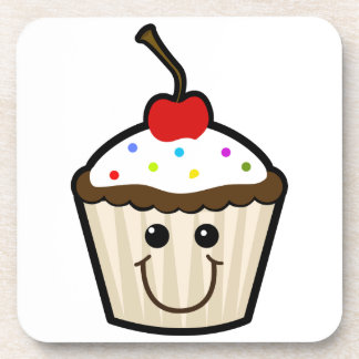Smile Face Cupcake Coaster