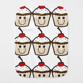 Smile Face Cupcake Baby Burp Cloths