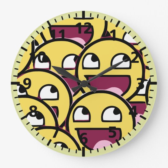 Smile Family Large Clock