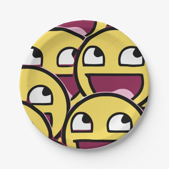 Smile Family Paper Plate