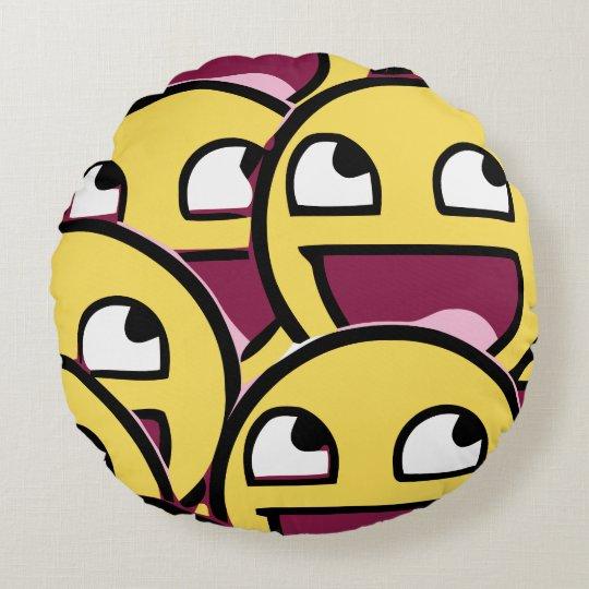 Smile Family Round Pillow