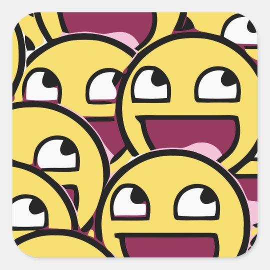 Smile Family Square Sticker