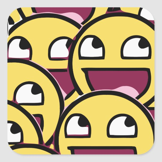 Smile Family Square Sticker