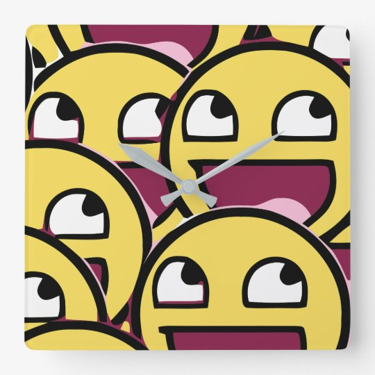 Smile Family Square Wall Clock