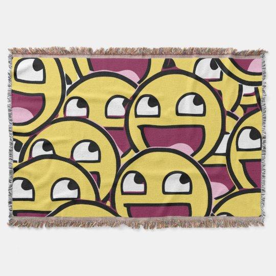 Smile Family Throw Blanket