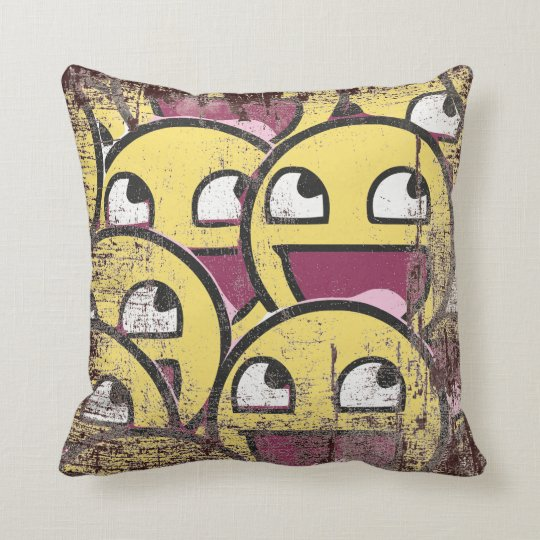 Smile Family Throw Pillow