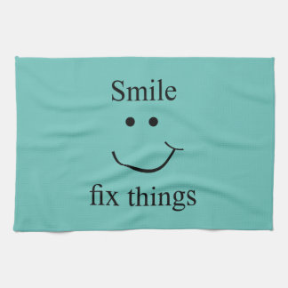 Smile fix things kitchen towel