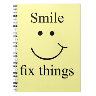 Smile fix things spiral notebook