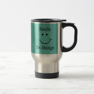Smile fix things travel mug