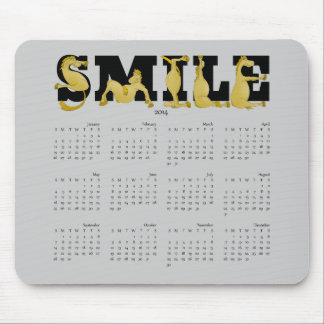 SMILE flexible pony calendar 2014 Mouse Pad