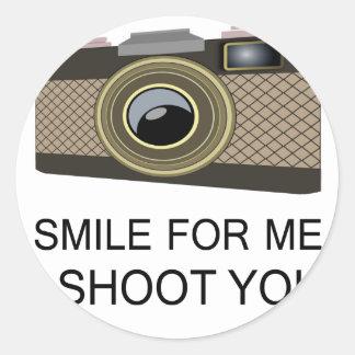 Smile For Me Classic Round Sticker
