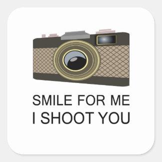 Smile For Me Square Sticker