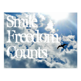 Smile, Freedom Counts. Postcard