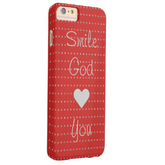 Smile God Loves You Barely There iPhone 6 Plus Case