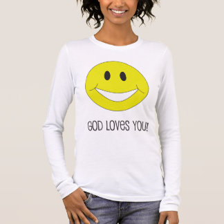 Smile God Loves You Christian Inspired Happy Shirt