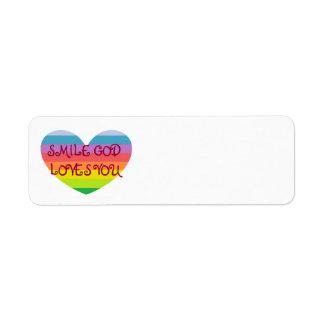 SMILE GOD LOVES YOU Label