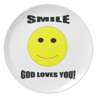 Smile God Loves You Plate