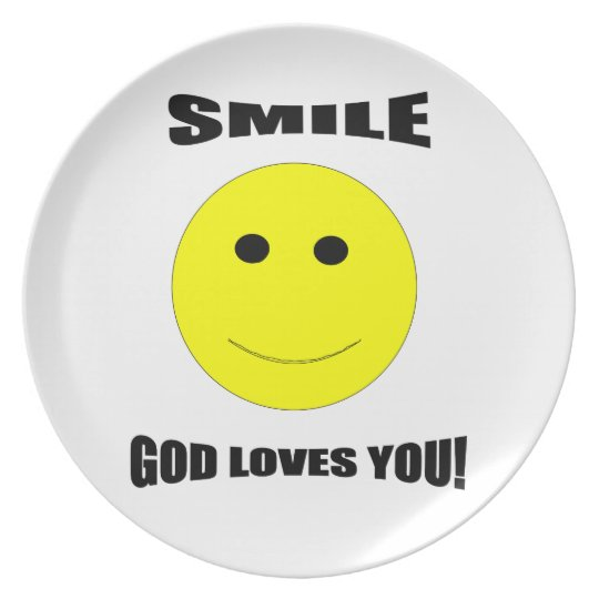 Smile God Loves You Plate