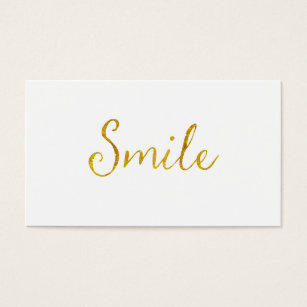 Inspirational quotes business cards business card printing zazzle ca smile gold faux glitter metallic sequins quote business card colourmoves