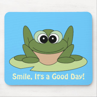 Smile Good Day Frog Mousepad