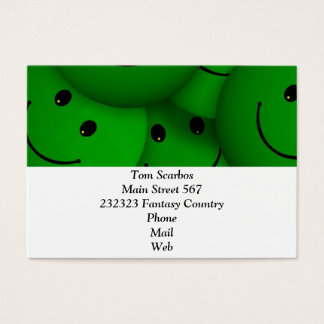 Smile green business card