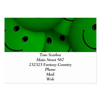 Smile green large business card