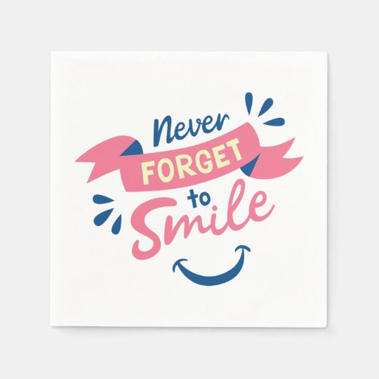 Smile, Happiness Attitude Pink Wedding, Party Disposable Napkins