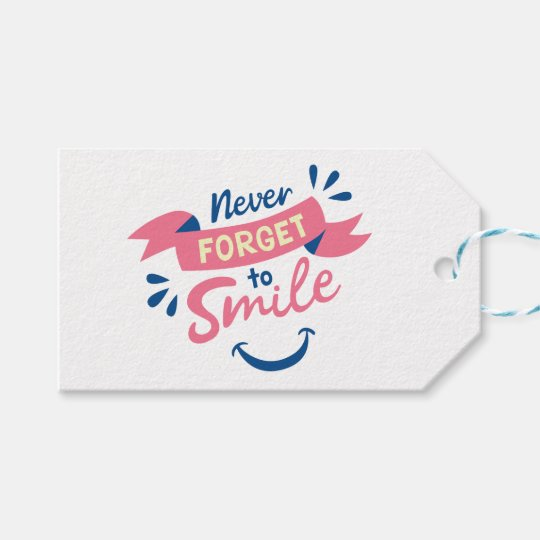 Smile, Happiness Attitude Pink Wedding, Party Gift Tags