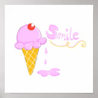Smile Ice Cream Poster
