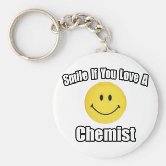 Smile If You Love a Chemist Keychain