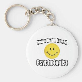 Smile If You Love a Psychologist Keychain