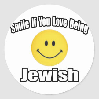 Smile If You Love Being Jewish Classic Round Sticker