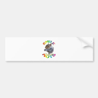 smile if you love nuts rainbow bumper sticker