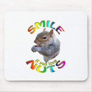smile if you love nuts rainbow mouse pad