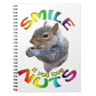smile if you love nuts rainbow notebook