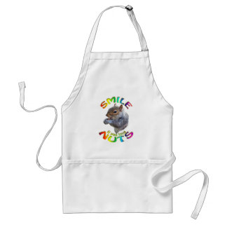 smile if you love nuts rainbow standard apron