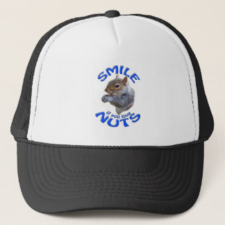 smile if you love nuts trucker hat