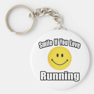 Smile If You Love Running Keychain